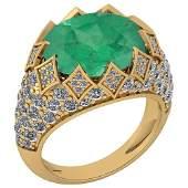 Certified 781 Ctw Emerald And Diamond VSSI1 Unique En