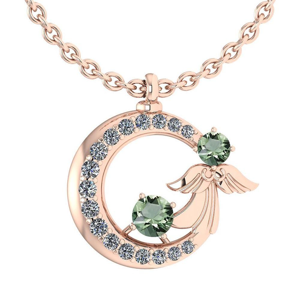 Certified 1.14 Ctw Green Amethyst Diamond VS/SI1 Tiny A