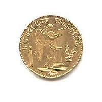 French 20 Franc Angel Gold Coin 1871-1906
