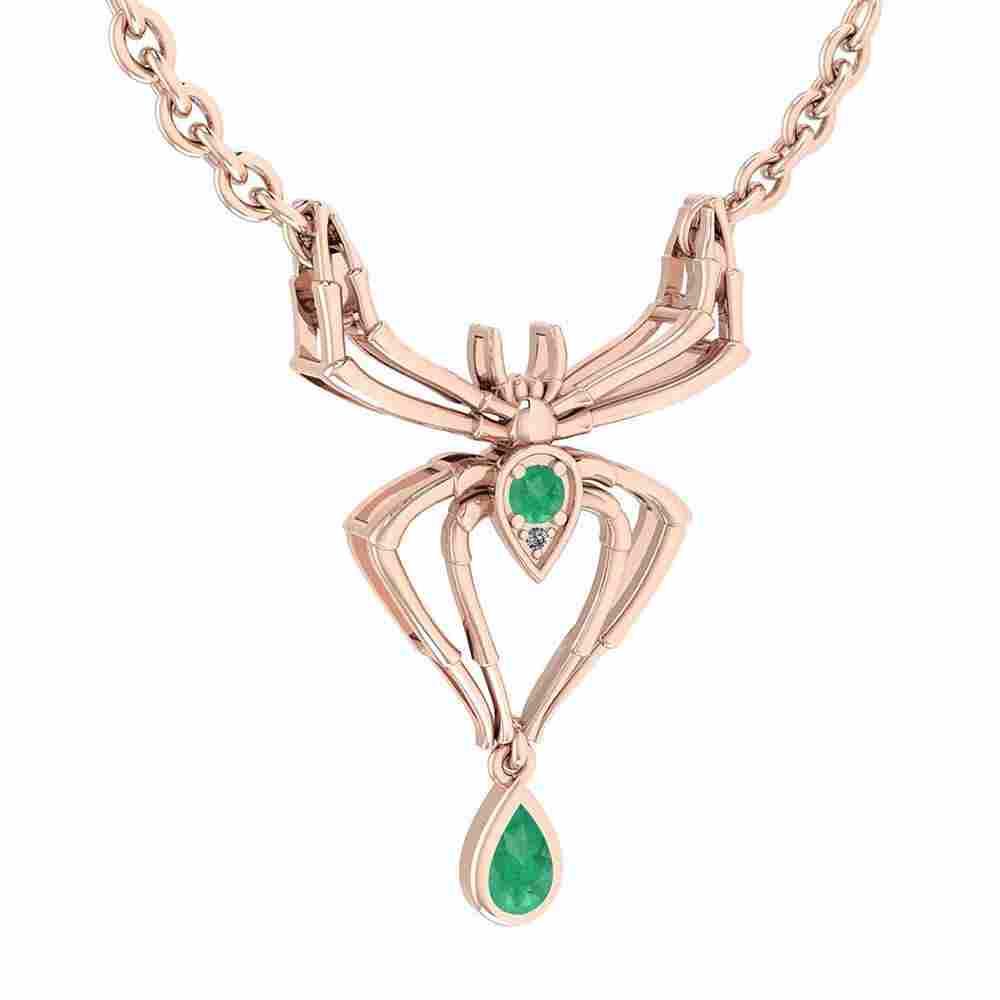 Certified 0.32 Ctw Emerald And Diamond VS/SI1 Spider Ne