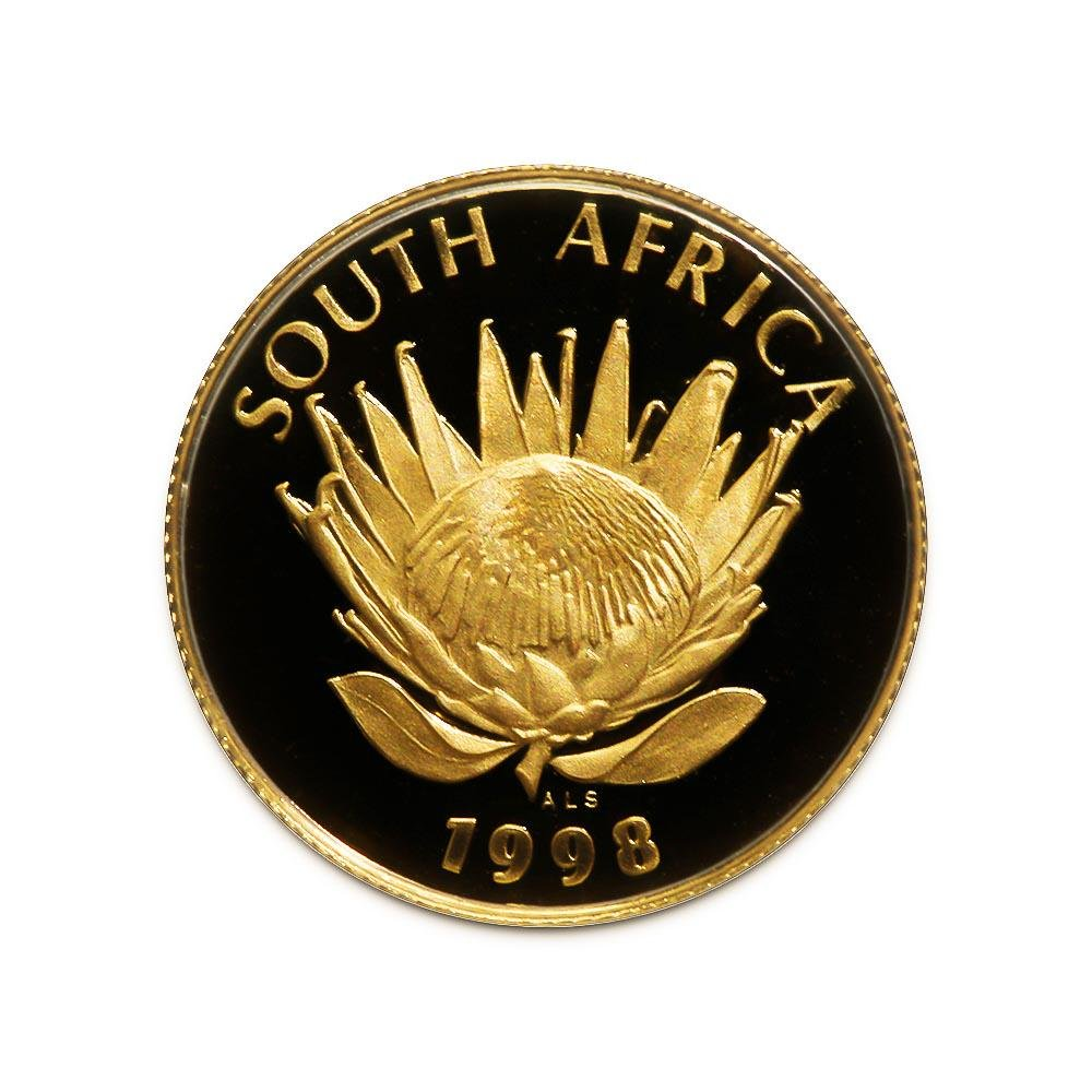 South Africa Tenth Ounce Gold PF Protea 1998 Year of th