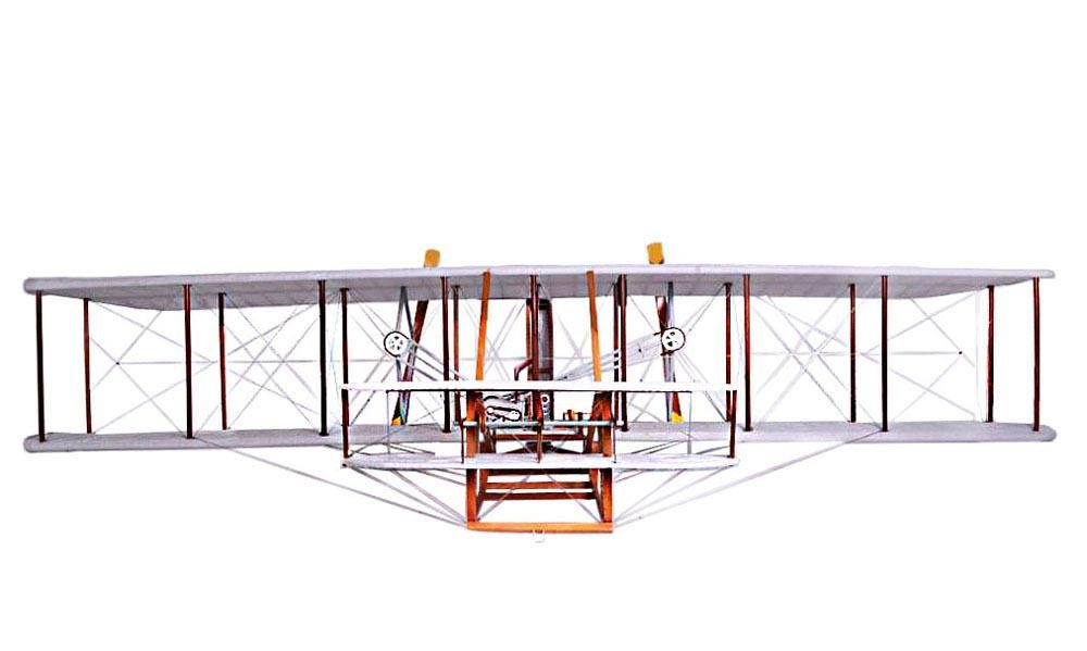 VINTAGE 1903 WHITE WRIGHT BROTHER FLYER 8-FEET