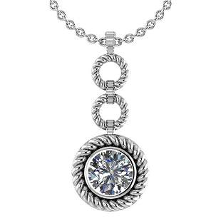 Certified 1.50 Ctw Diamond Necklace For womens New Expr