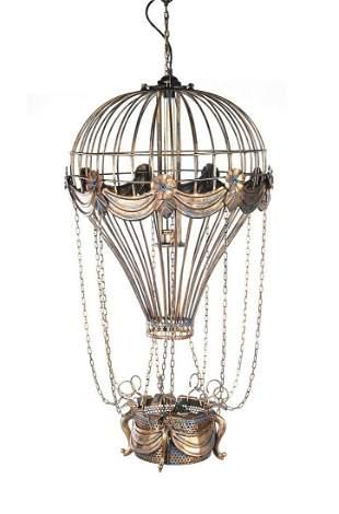 Vintage Hot Air Balloon Pendant