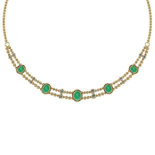 Certified 10.80 Ctw Emerald And Diamond VS/SI1 Beautifu