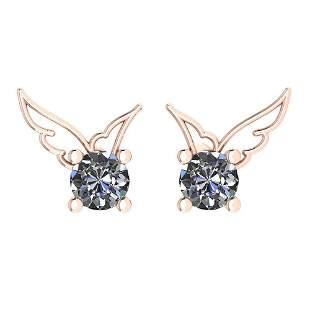 Certified 0.50 Ctw Diamond VS/SI1 Stud Earrings 14K Gol