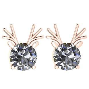 Certified 2.00 Ctw Diamond VS/SI1 Stud Earrings 14K Gol