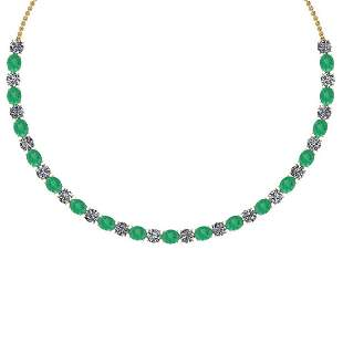 Certified 56.10 Ctw Emerald And Diamond I1/I2 Beautiful