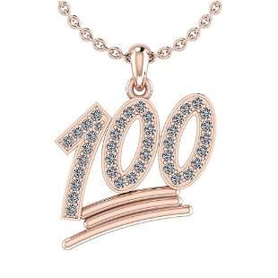 Certified 0.31 Ctw Diamond VS/SI1 One Hundred Pendant 1