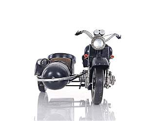 Black Vintage Motorcycle