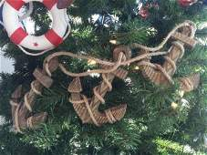 Wooden Rustic Decorative Triple Anchor Christmas Orname