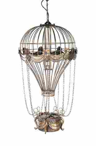 Vintage Hot Air Balloon Pendant