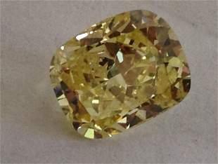 GIA CERT 1.56 CTW RADIANT DIAMOND YELLOW/FANCY LIGHT