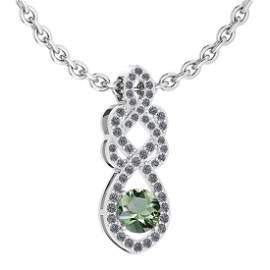 Certified 1.26 Ctw Green Amethyst And Diamond VS/SI1 Ne