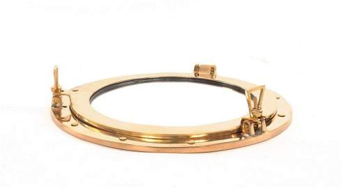 PortHole Mirror 15in dia made of Solid Brass