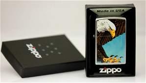 "GENUINE ZIPPO LIGHTER EAGLE"" MADE IN USA"""
