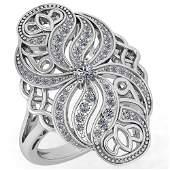 Certified 0.59 Ctw Diamond Wedding/Engagement Style 14k