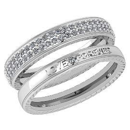 Certified 1.00 Ctw Diamond Wedding/Engagement 14K White