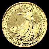Great Britain 1 oz Gold 2020 Britannia BU