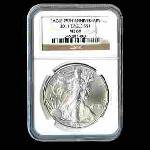 Certified Uncirculated Silver Eagle 2011 MS69