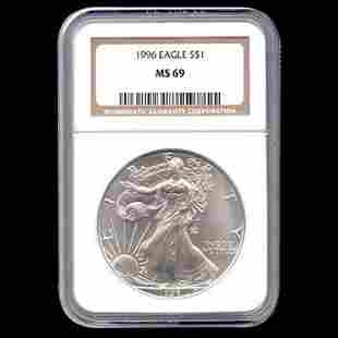 Certified Uncirculated Silver Eagle 1996 MS69