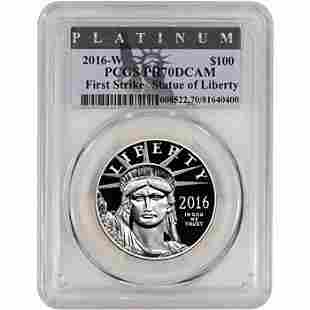 2016 W American Platinum Eagle Proof 1 oz $100 PCGS PR7