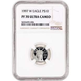 1997 W American Platinum Eagle Proof 1/10 oz $10 NGC PF
