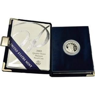 2003 W American Platinum Eagle Proof 1/4 oz $25 in OGP