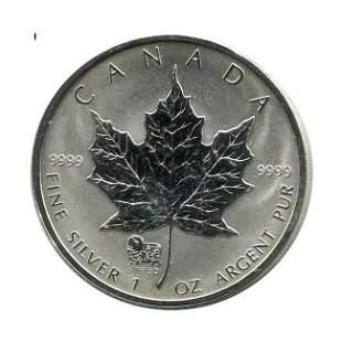 2003 Canada 1 oz. Silver Maple Leaf Reverse Proof Sheep