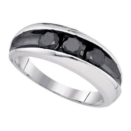 925 Sterling Silver White 0.96CT-BLACK DIAMOND MICRO-PA