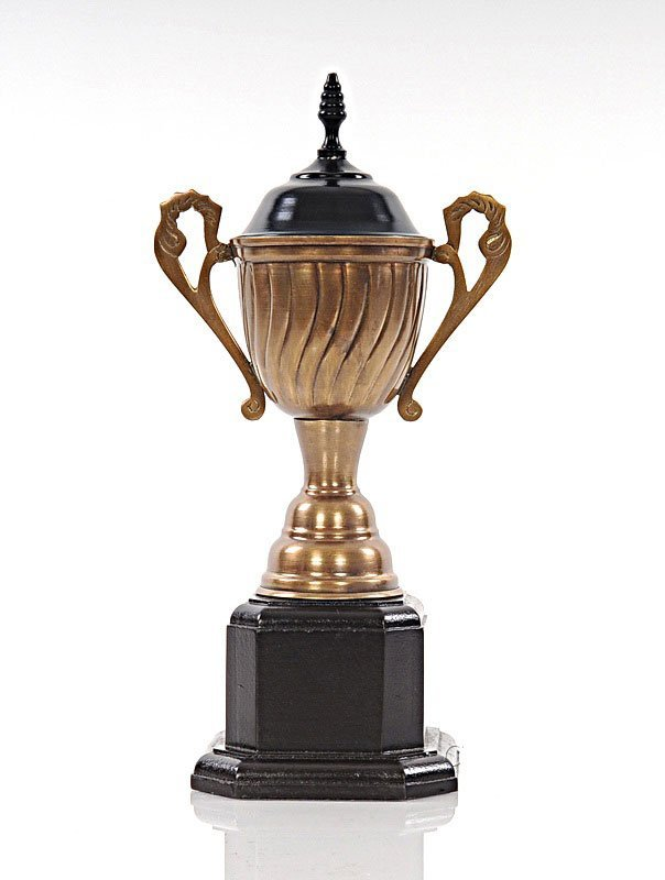 ALUMINUM AND WOODEN TROPHY