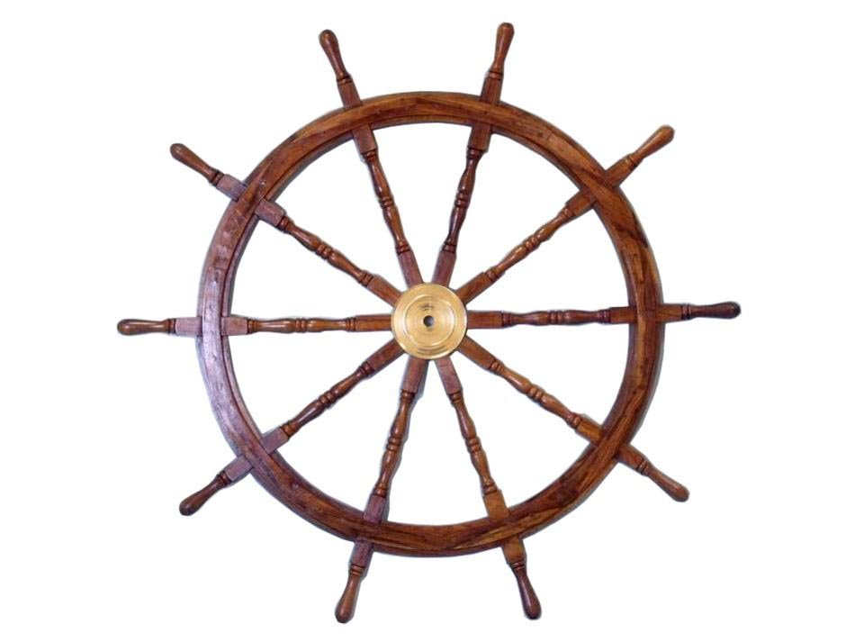 """NAUTICAL DELUXE CLASS HAMPTON WOOD AND SOLID BRASS 36"""""""