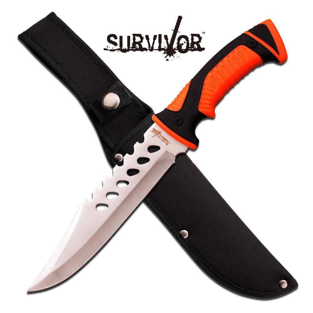 "12.75"" FULL TANG STAINLESS STEEL FIXED BLADE KNIFE"