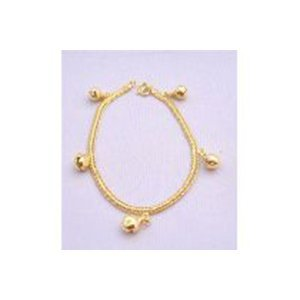 Gold Plated Bracelet w/ Balls Dangling Thick Gold Plate