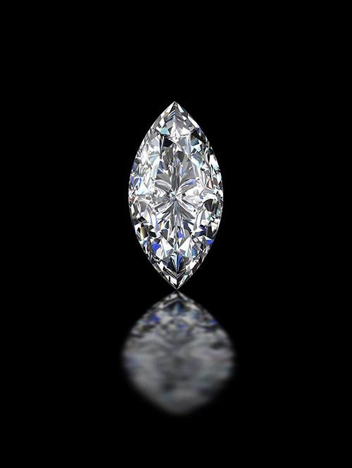 GIA CERT 0.35 CTW MARQUISE DIAMOND E/VS2