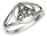 Sterling Silver Marcasite Celtic Trinity Knot Ring