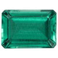 Emerald - 8x6mm Emerald Cut Loose Lab-created Gemstone