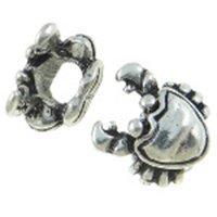 Tibetan Silver Figural Crab European Bracelet Spacer Be