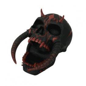 Satan Skull Figurine