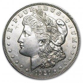 1921 P, D, Or S Mint Morgan Dollar Au