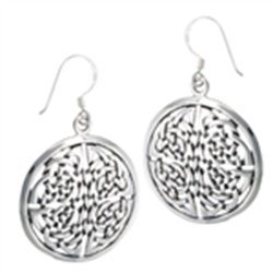 Beautiful Round Endless Knot Celtic Earring