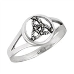 Celtic Ring With Marcasite Sterling Silver Sizes 5-10