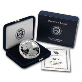 2011-w 1 Oz Proof Silver American Eagle (w/box & Coa)