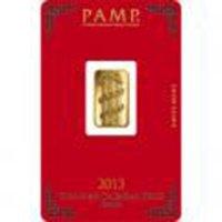 Pamp Suisse 5 Gram Gold Bar 2013 - Snake Design