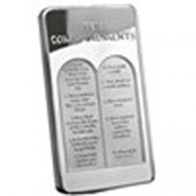 10 Oz Silver Bar - Ten Commandments