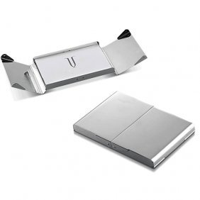 Powell Silver Plated Business Card Case