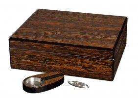 Visol Recruit Ironwood Cigar Gift Set With Cutter & Ash