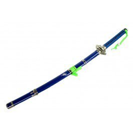 "42"" Blue And Green Samurai Sword"