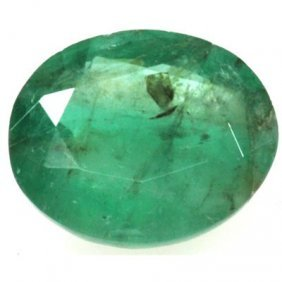 Genuine 3.91 Ctw Emerald Oval Cut