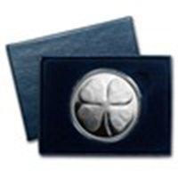1 Oz Silver Round - Four Leaf Clover (w/box & Capsule)